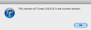 iTunes 10.6.3 is the current version